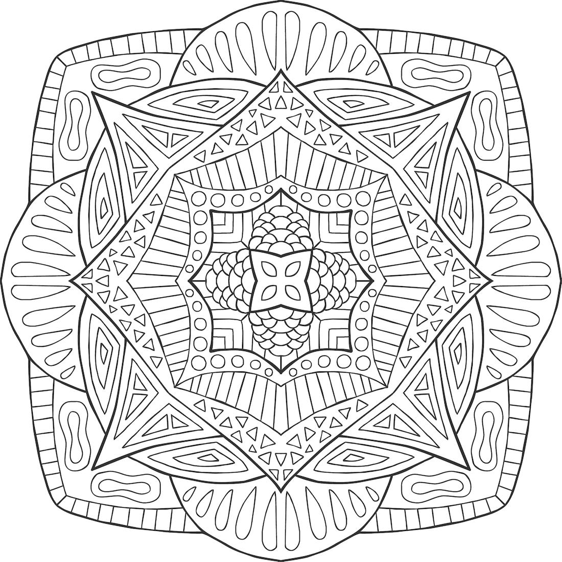 Rupa In Balance Coloring Page  By Hamdi R. - (mondaymandala)
