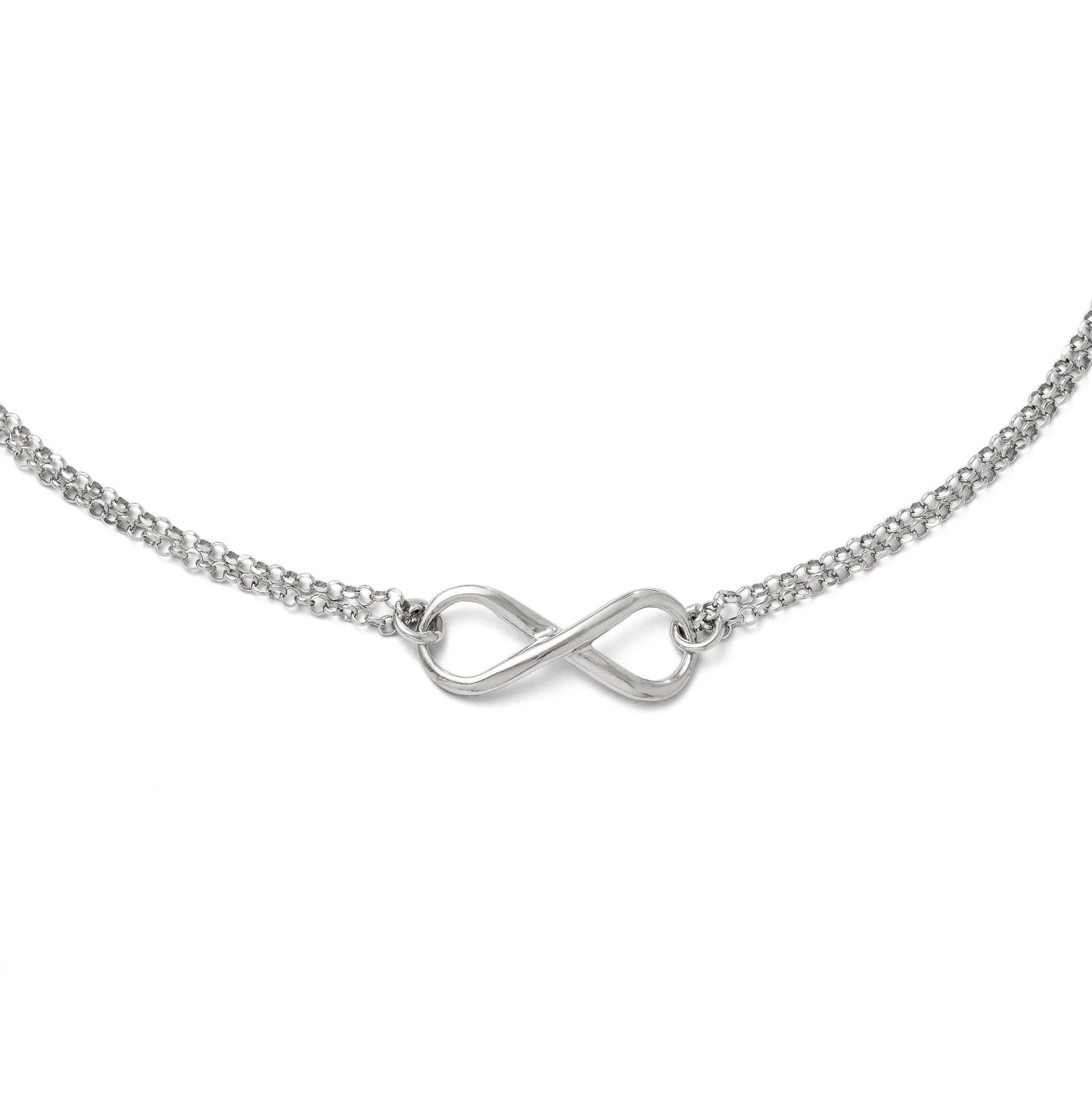 on a sterling necklaces rose multi simply infinity necklace quot plated zoom little silver tone gold jewellery