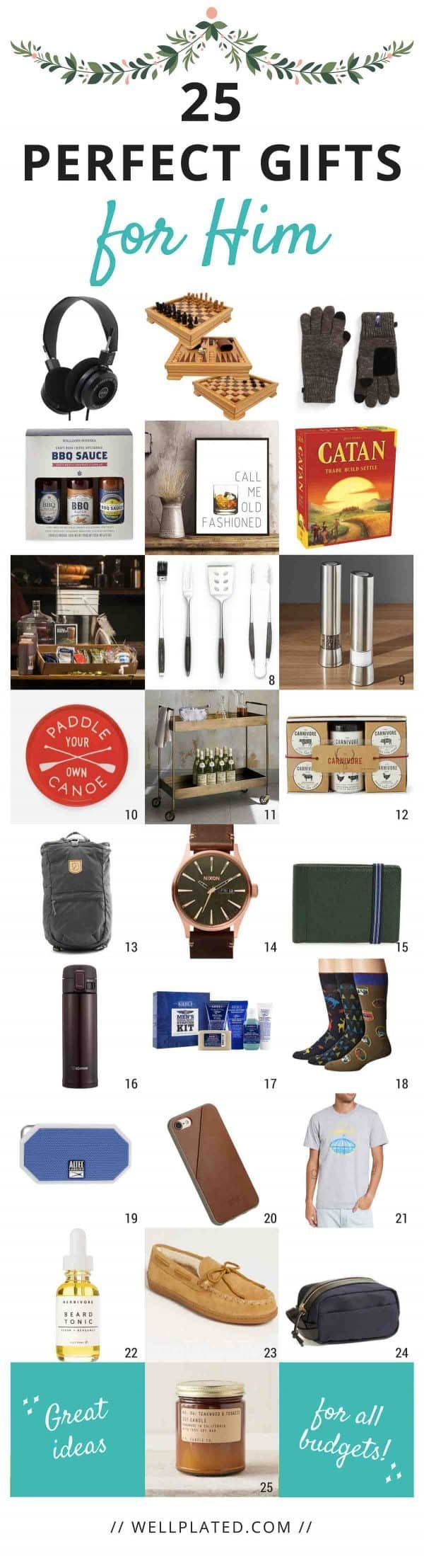 25 Perfect Gift Ideas For Your Husband Boyfriend Dad Or Any Guy You Love All Budgets Christmas Gifts A Birthday