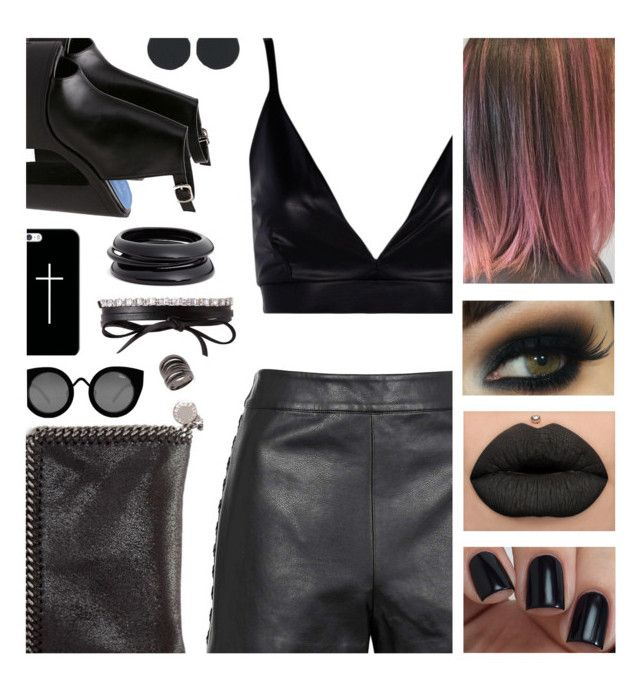 """""""Holy Black 🖤"""" by atra1999 ❤ liked on Polyvore featuring Casetify, Boohoo, Topshop, STELLA McCARTNEY, Quay, Fallon, Federica Tosi, ZENZii, black and lady"""