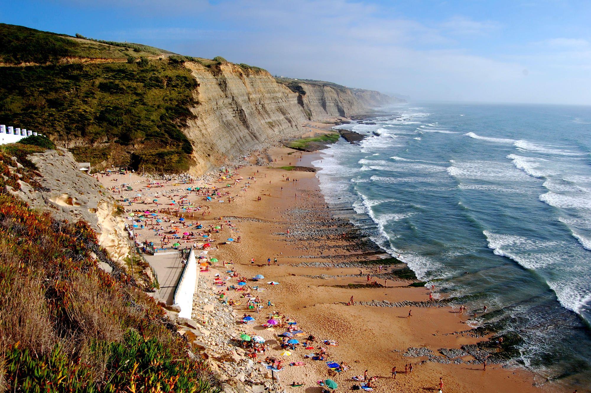 Magoito praia do concelho de Sintra.
