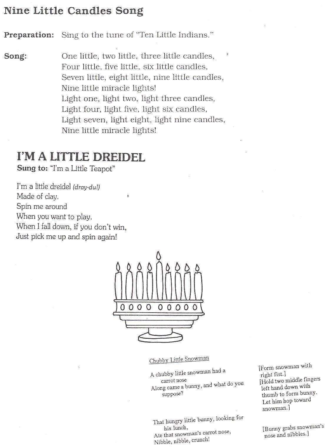 Preschool Hanukah Songs