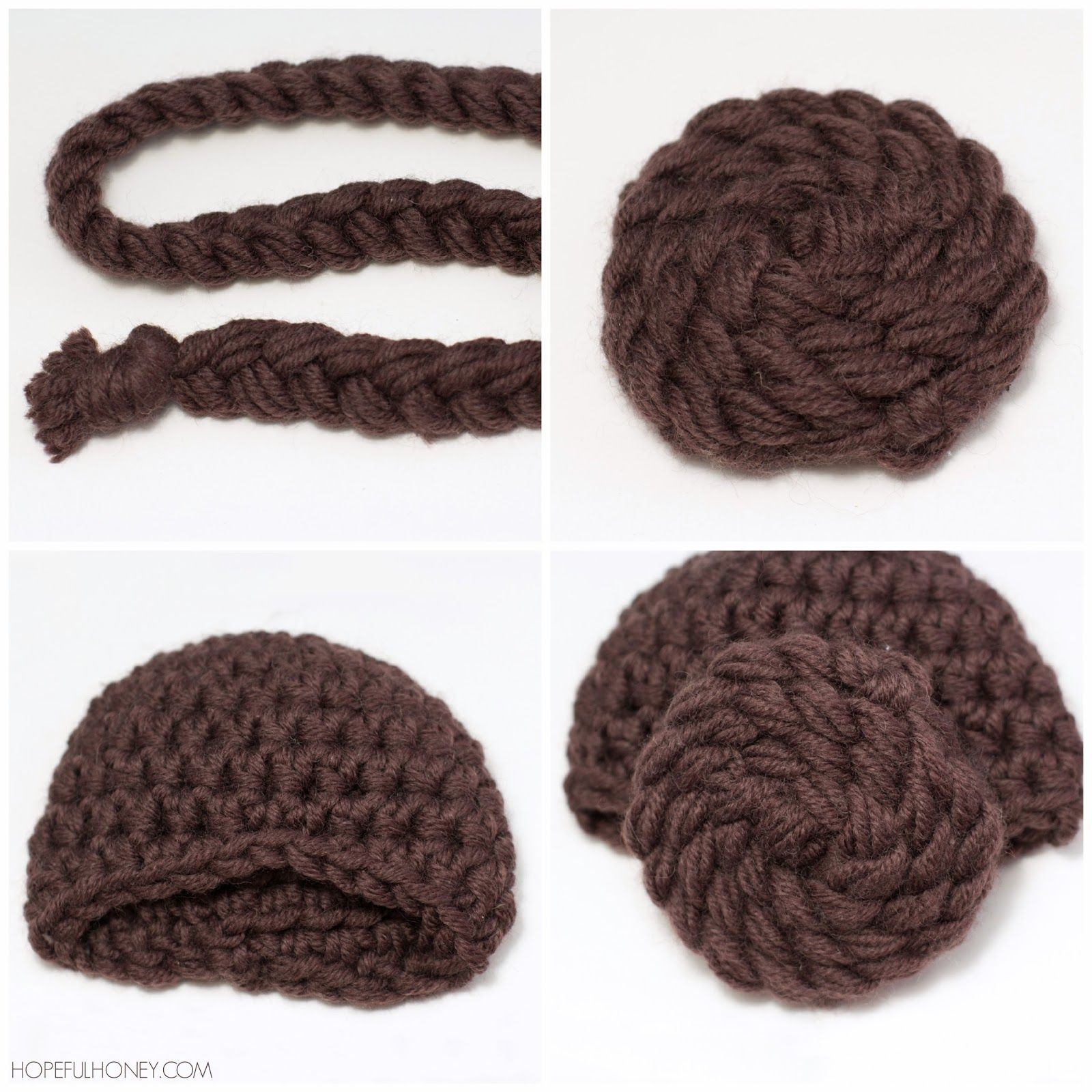 Princess Leia Inspired Beanie Crochet Pattern | Gorros, Tejido y ...