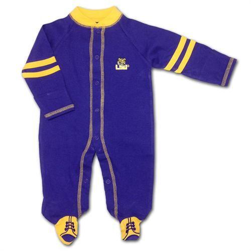 LSU Tigers Baby Sleeper #LSU #Infant #Baby #Toddler #Babyfans