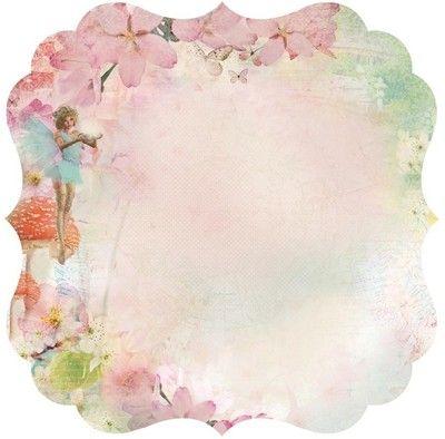 "Kaiser Craft Enchanted Garden Collection 12""x12"" Single Sided DieCut Cardstock Believe"