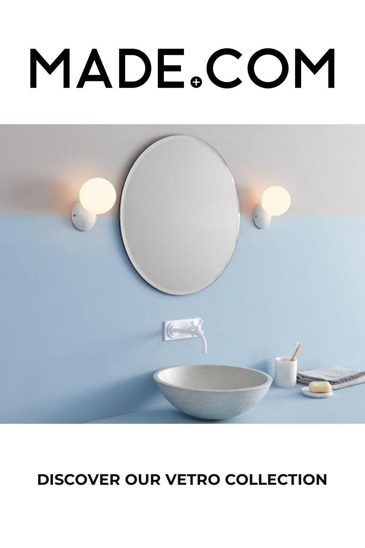 Vetro Bathroom Wall Light, White