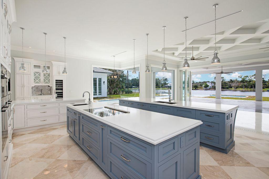 Traditional Kitchen with Breckenridge Flat Panel Cabinet Door ...