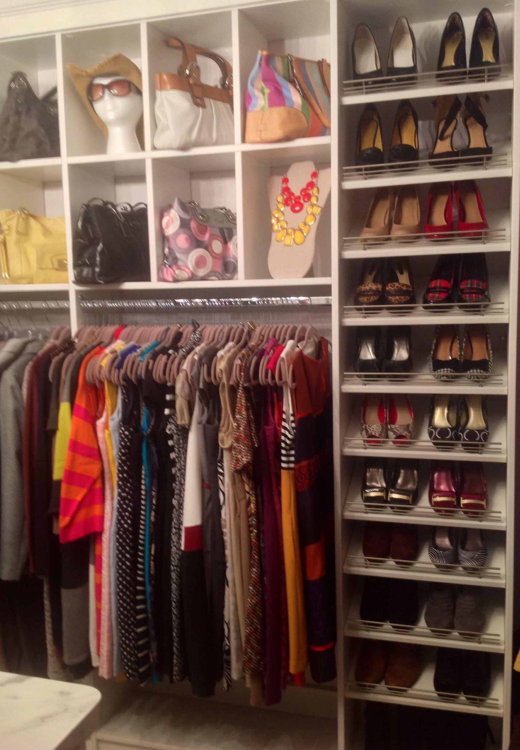 Shoes closet purse cubbies Cool Pinterest
