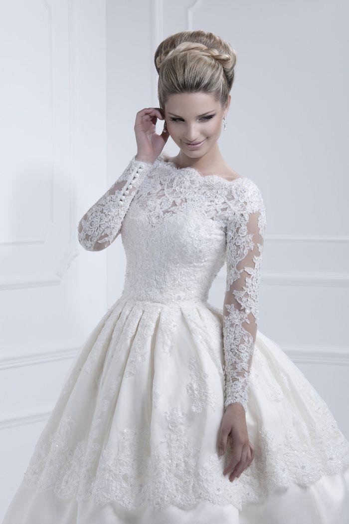 kort brudekjole Kort brudekjole med mye vidde   ABELONE.NO   Brudekjoler til ditt