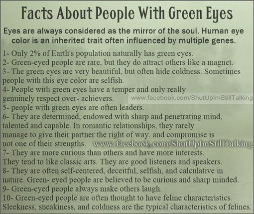 fact people with green eyes facts about people with