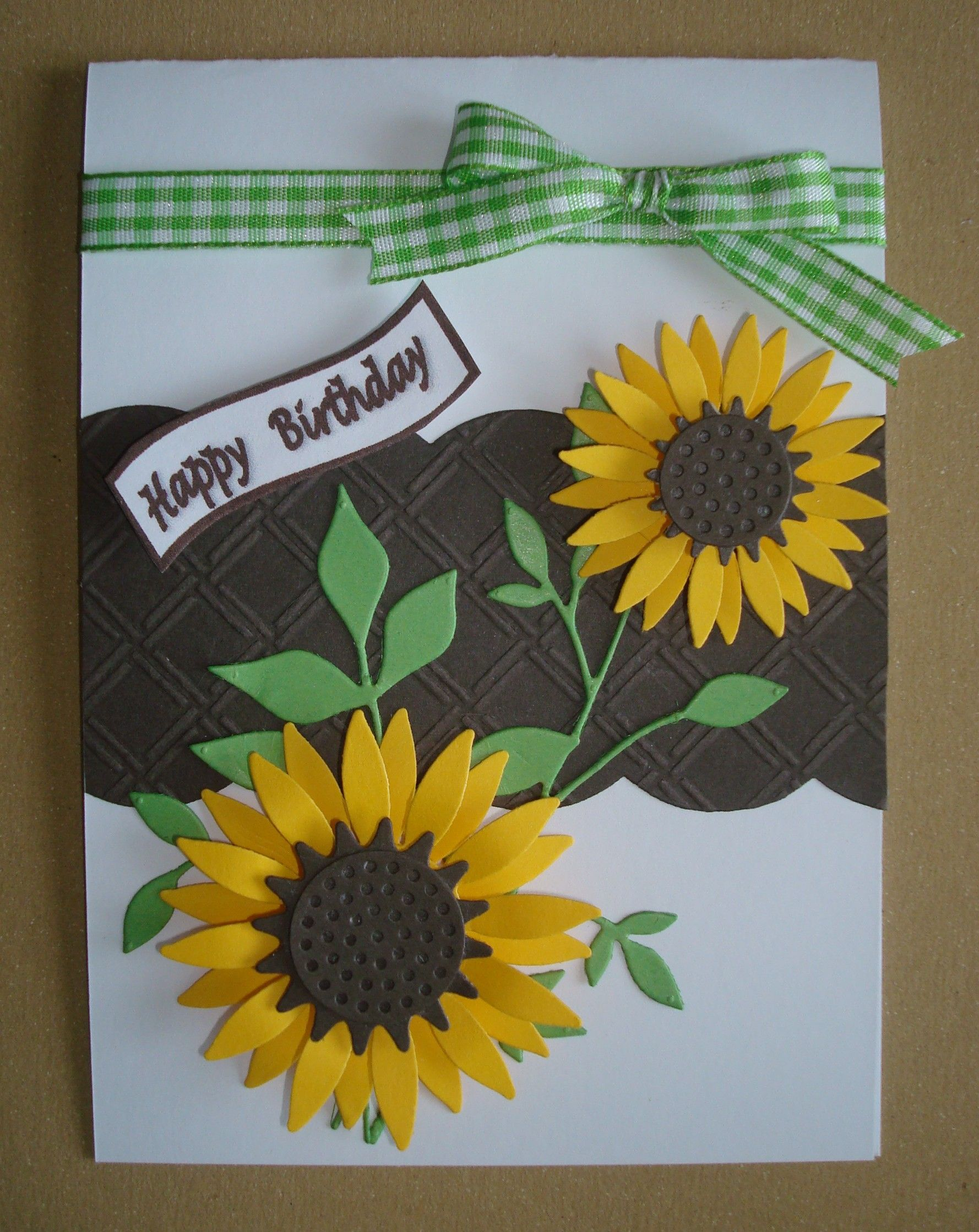 Hand made birthday card using die namics sunflower die and fresh hand made birthday card using die namics sunflower die and fresh foliage die izmirmasajfo Images