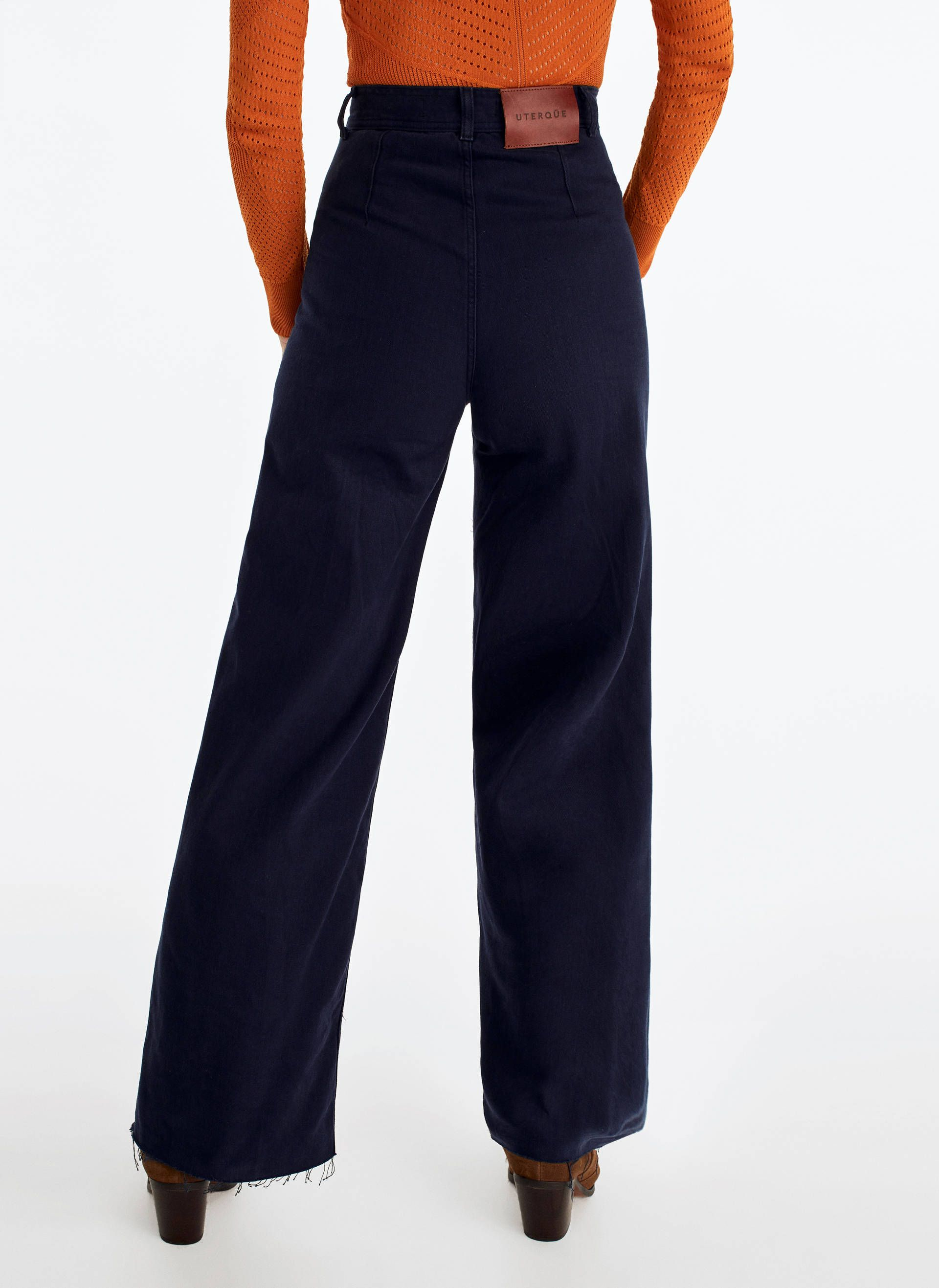 Photo of Wide seamless trousers – See all – Trousers – Collection – Uterqüe Spain
