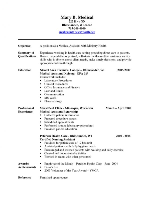Resume Format Indeed Medical assistant resume, Medical