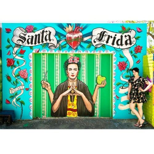 "♡MAHALO FRIDA KAHLO ♡ Blow my mind!✌ Totally in love with this #FridaKahlo #wallart by @fieldey ♡ @friducha_arte #streetart ♡ #MilagrosMundo your #local #urban #hippy #lifestyle #store for #bohemian #gypset #treasurehunters only! ♡ #Amsterdam ♡ #Netherlands Milagros Mundo ""Funky Fairtrade - Hippy Chic"""