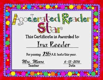 Reading awards bundle powerpoint format accelerated reader and end of the year accelerated reader award certificates are editable for your convenience this product yadclub Choice Image