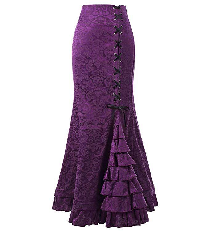 Black Sexy Gothic Fishtail Skirt - Devilnight.co.uk