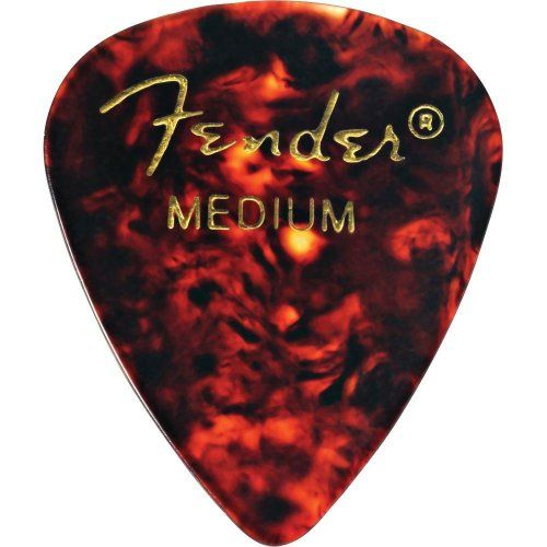 Fender 351 Shape Medium Classic Celluloid Picks, 12-Pack