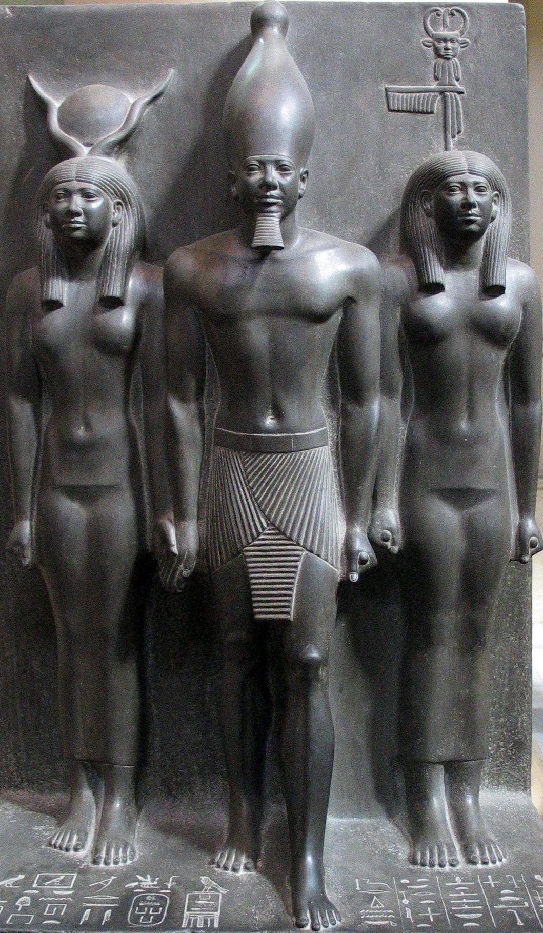 Pharaoh King Menkaure , builder of the great third pyramid of Giza