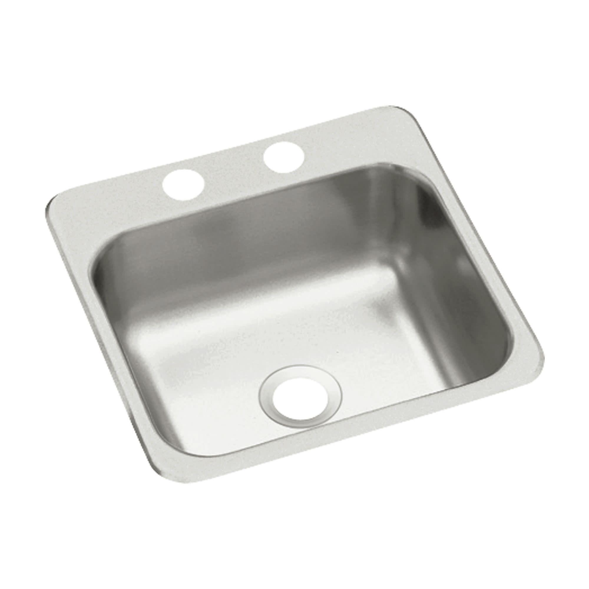 Sterling B153 2 15 Single Basin Drop In Stainless Steel Silver