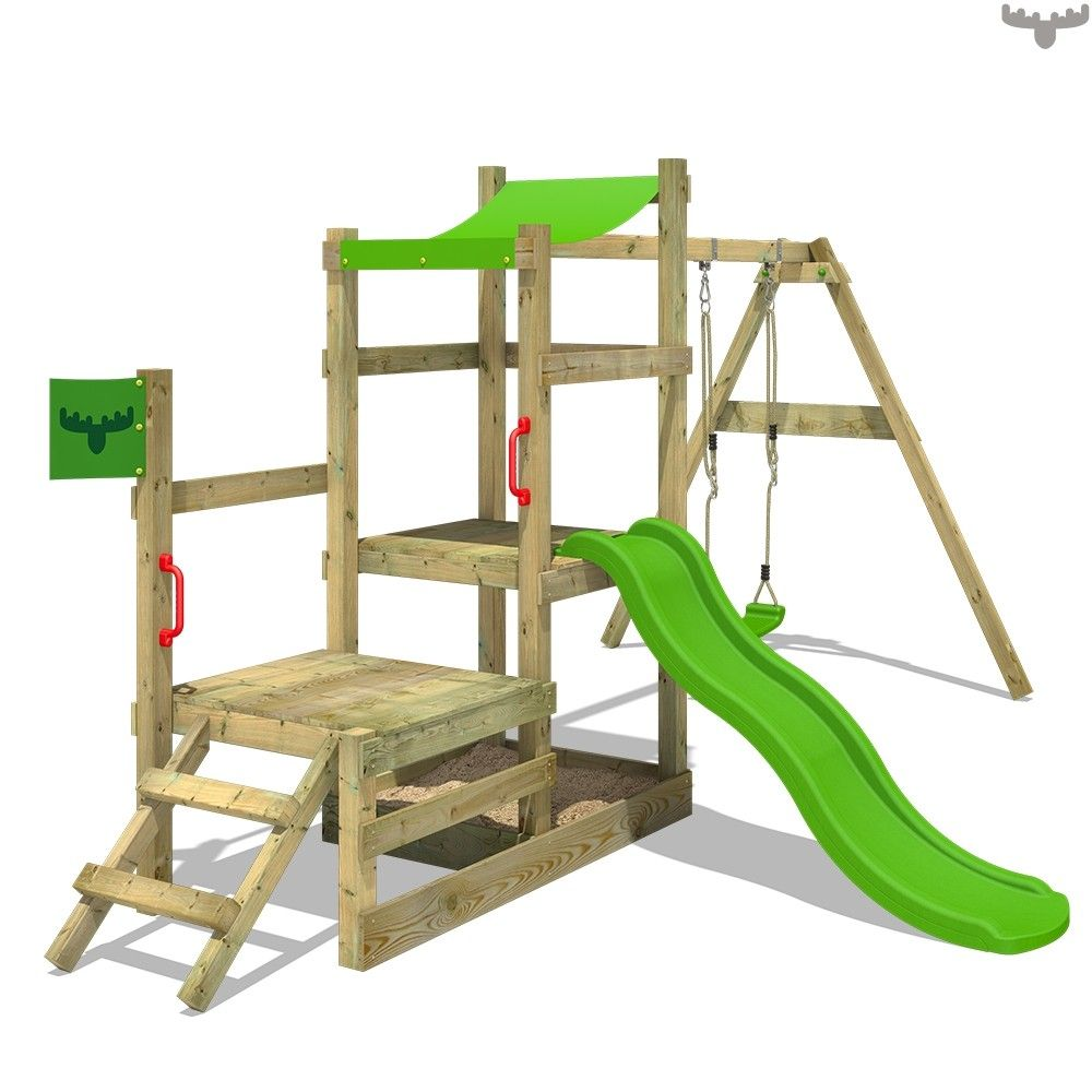 Climbing frame RabbitRally Racer XXL with 2 platforms and swing ...