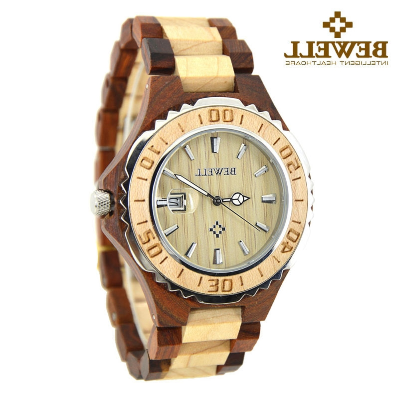 34.49$  Buy now - https://alitems.com/g/1e8d114494b01f4c715516525dc3e8/?i=5&ulp=https%3A%2F%2Fwww.aliexpress.com%2Fitem%2FBEWELL-Montre-Homme-Quartz-Wood-Watch-Men-Analog-Display-Date-Sandalwood-Men-Watch-for-Christmas-Gifts%2F32774565875.html - BEWELL Montre Homme Quartz Wood Watch Men Analog Display Date Sandalwood Men Watch for Christmas Gifts With paper box 100BG