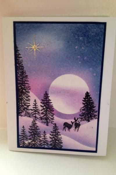 Moonlit Winter by kate4450 - Cards and Paper Crafts at Splitcoaststampers : Moonlit Winter by kate4450 - Cards and Paper Crafts at Splitcoaststampers  #Moonlit #Winter #kate4450
