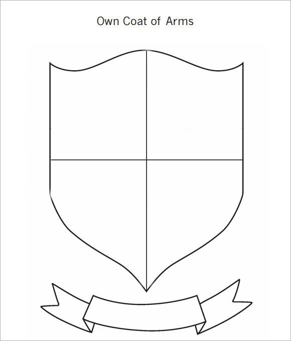 Coat of arms template 12 download in pdf psd eps vector for Make your own coat of arms template