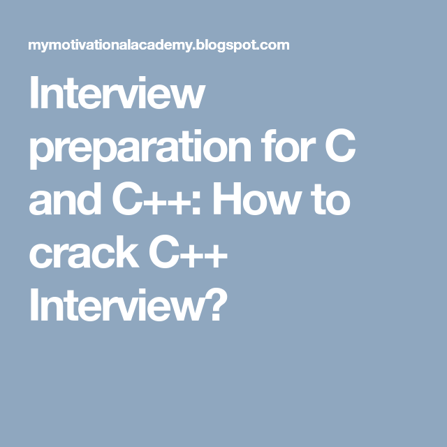 Pin on C++ Interview questions and answers
