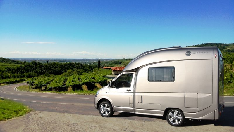 The compact Micros on the brand new Volkswagen T6 - 4Motion for extraordinary travel comfort. Made in Italy since 1977