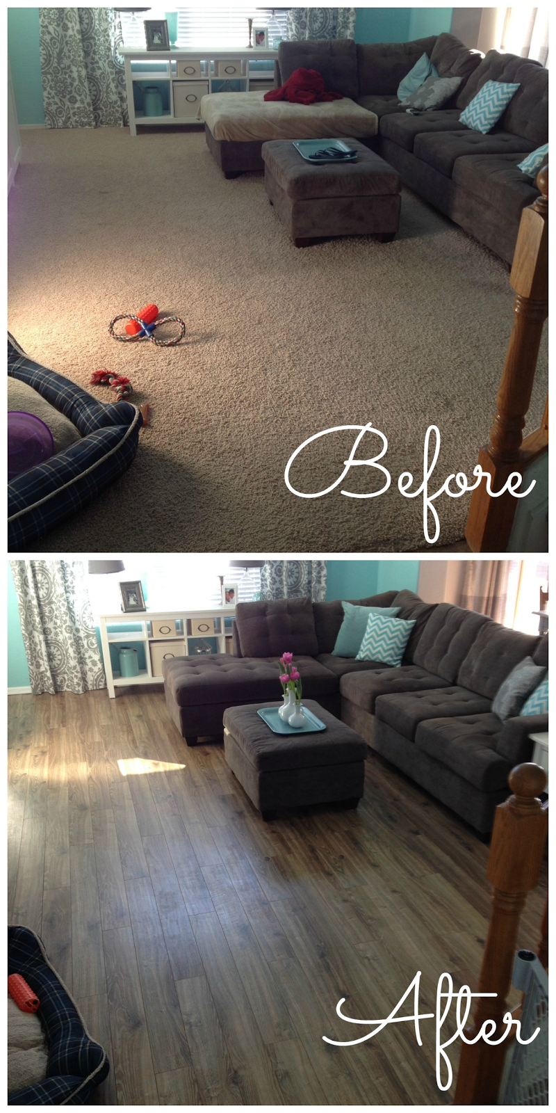 Out with the old, in with the new! | Living room wood ...