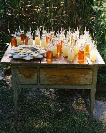 Refreshment Table Real Weddings Diy Wedding Backyard Wedding