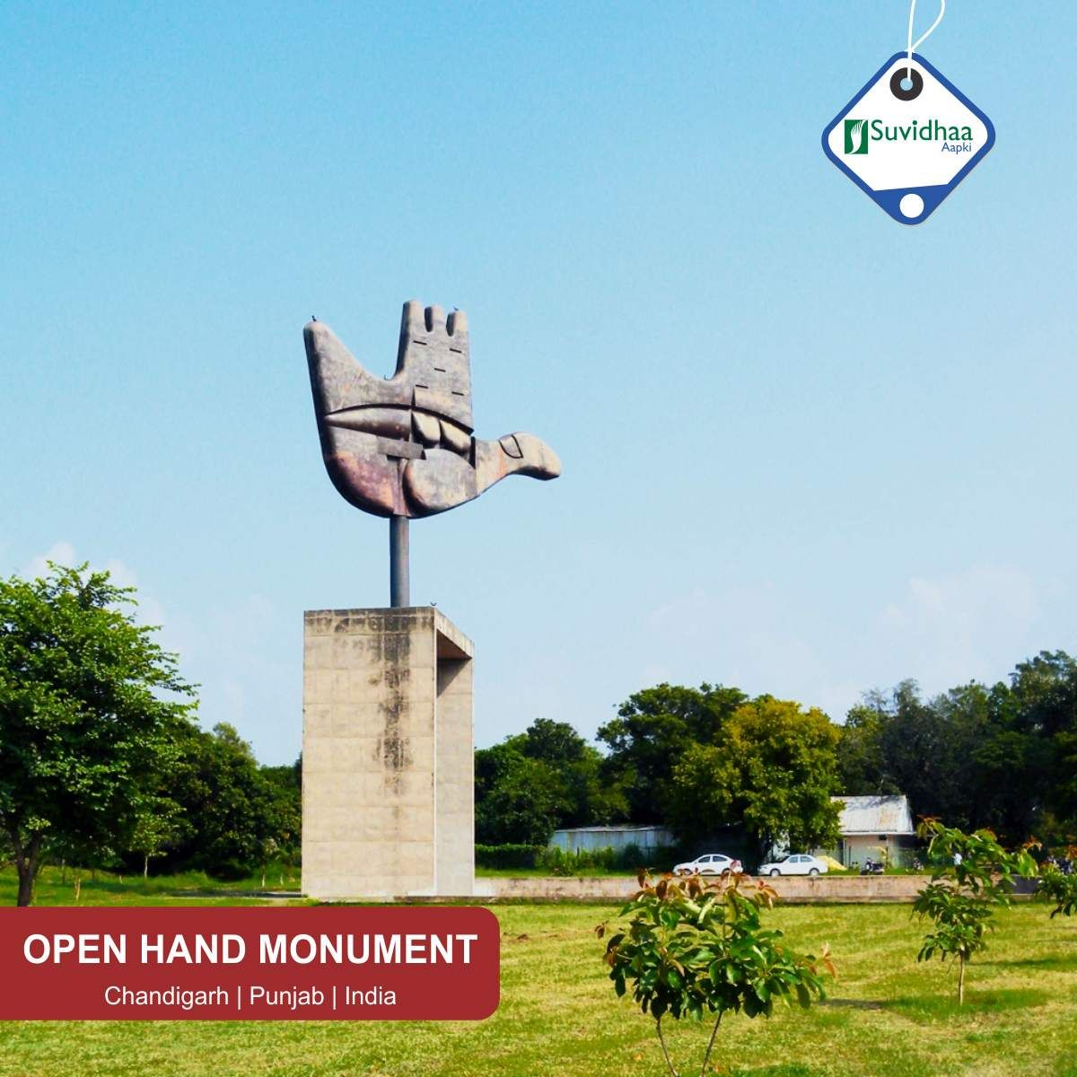 The Open Hand Monument Is A Symbolic Structure Located In The Indian