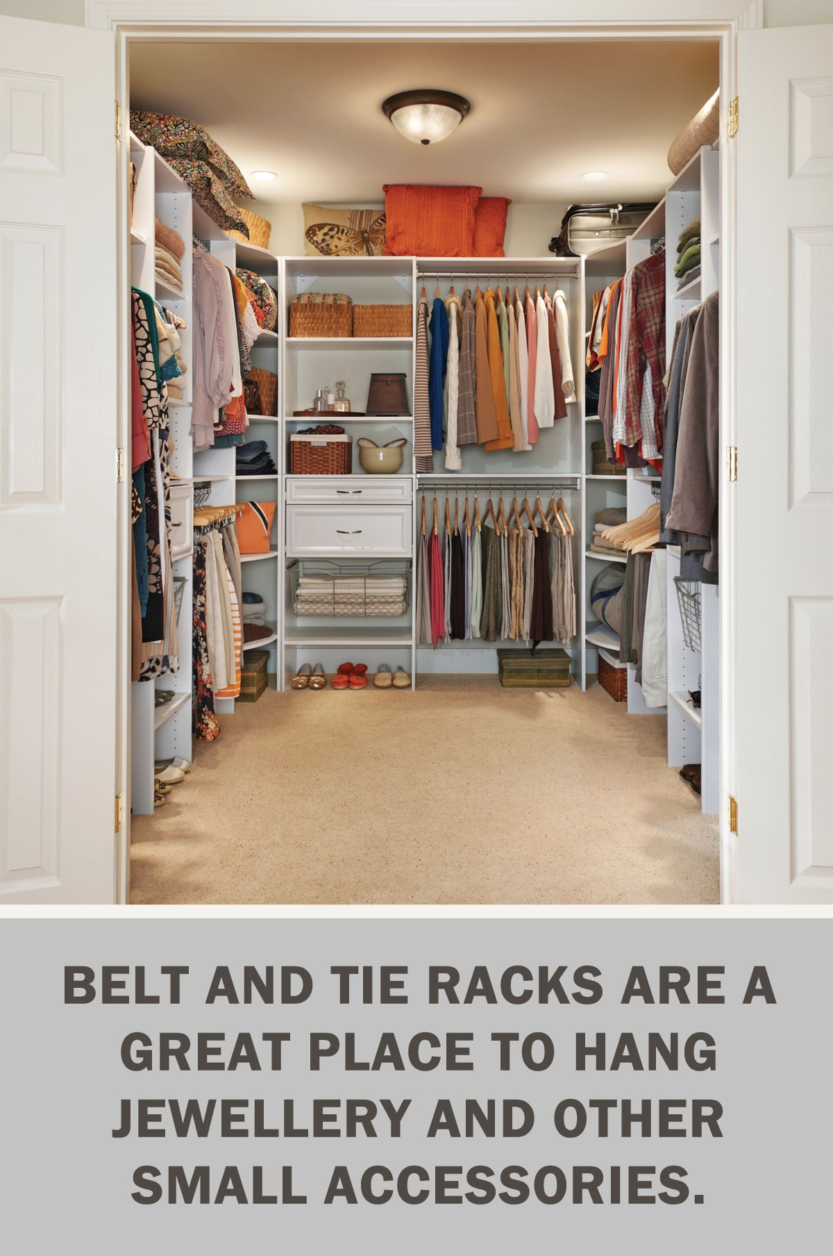 #LetsGetOrganized With @closetmaid: Belt And Tie Racks Are A Great Place To  Hang