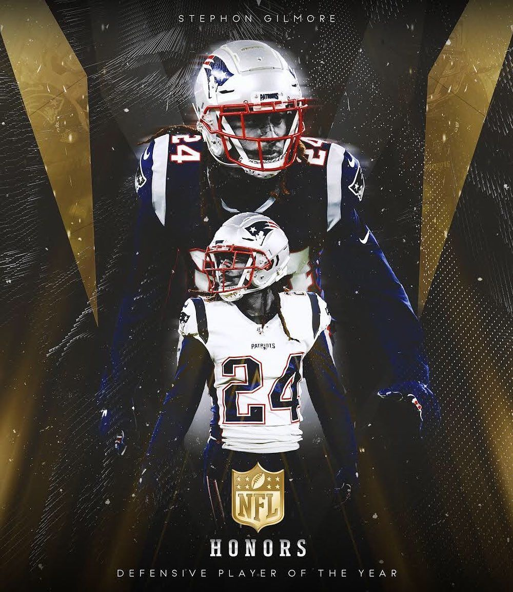 There It Is Congratulations To Stephon Gilmore Who Has Been Named The Nfl S 2019 Defens In 2020 Patriots Football Team Patriots Football New England Patriots Football