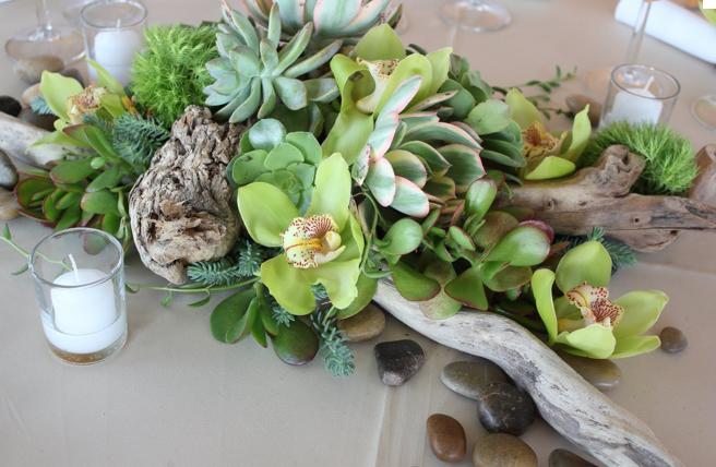 diy succulent and driftwood wedding centerpieces Google
