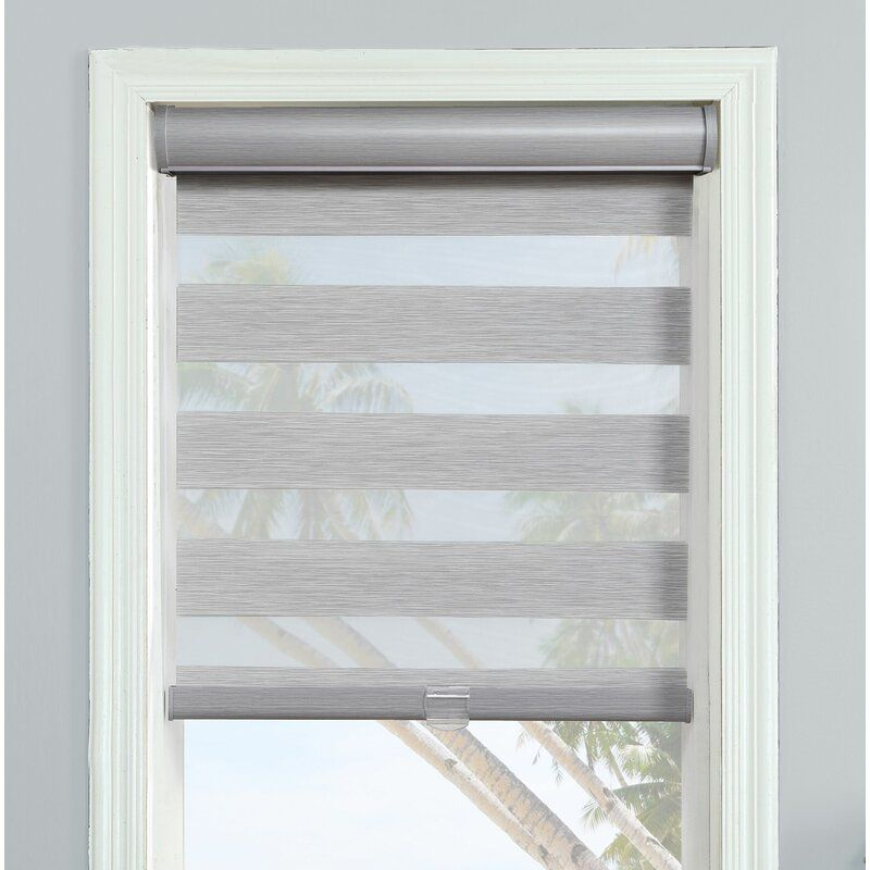 Cordless Layered Sheer Roller Shade In 2020 Roller Shades Sheer Roller Shades Shades Blinds