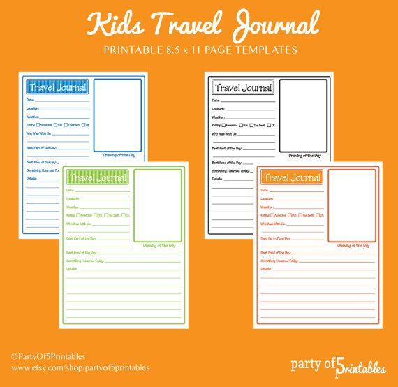 travel journal template
