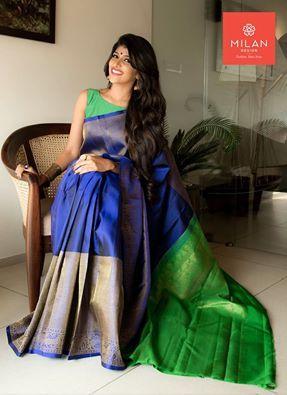 Banaras Saree From Milan Design Kochi Milandesignkochi Designersaree Kancheepuramsaree Kerala Kochi India Saree Designs Indian Dresses Elegant Saree