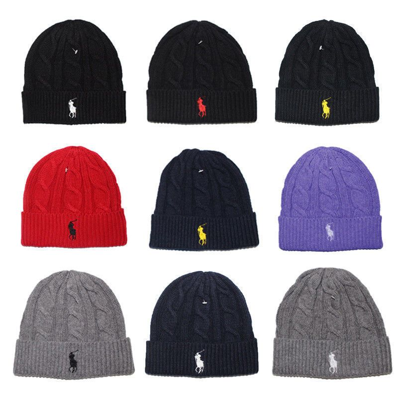 Newbnwt Men Women Lambs Wool Polo Color Beanie Skull Knit Winter Hat Hip  Hop Hot 7d472c8dc