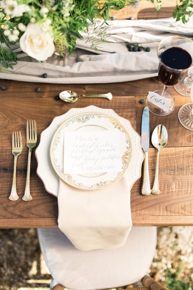 Relaxed Yet Elegant Beach Wedding Ideas | Wedding table settings ...
