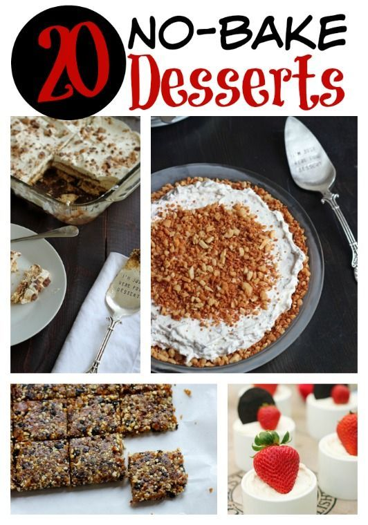 20 No Bake Desserts Cheap Desserts Cold Desserts Baking