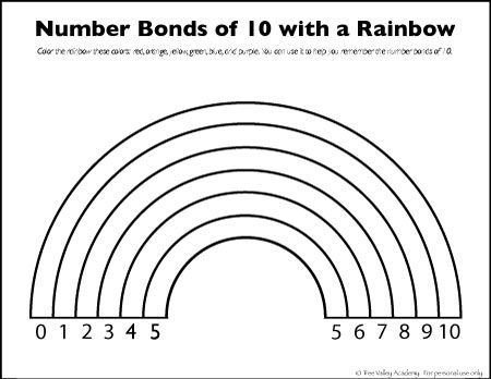 rainbow coloring pages 10 rows - photo#22