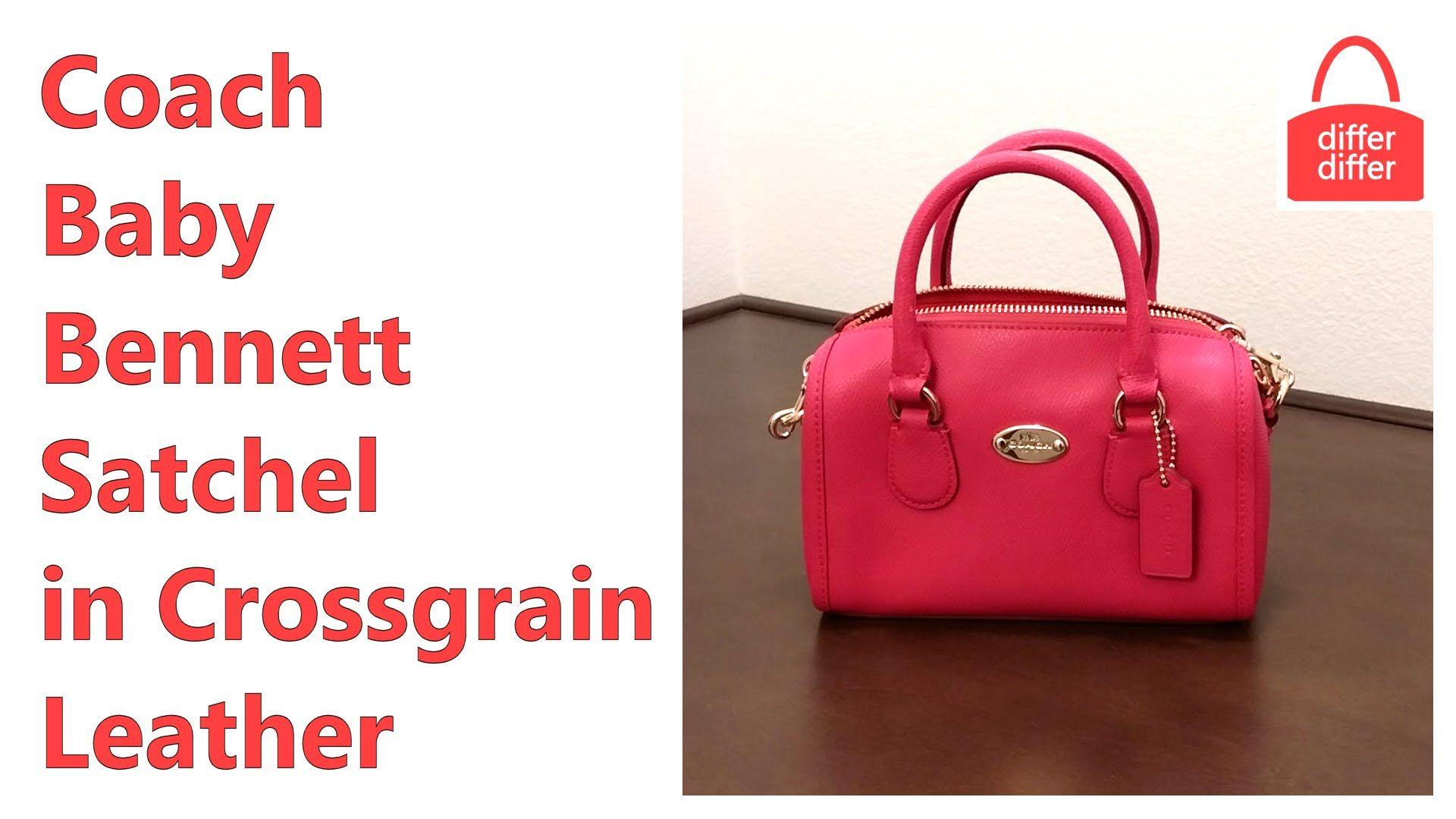 831275810fa4 Coach Baby Bennett Satchel in Crossgrain Leather 34641