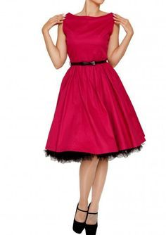5e369b50aa6645 Lindy Bop 50er Jahre Rockabilly Vintage Petticoat Kleid - Audrey - Rot