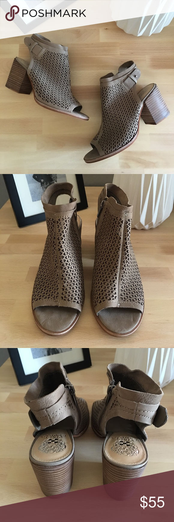 77a6ac2f3ce 🆕 VINCE CAMUTO Lidie Cutout Bootie Sandal A Vince Camuto Shoes ...