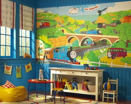 Thomas The Train Wall Mural For Thomas Themed Toddler Boys Rooms Part 39