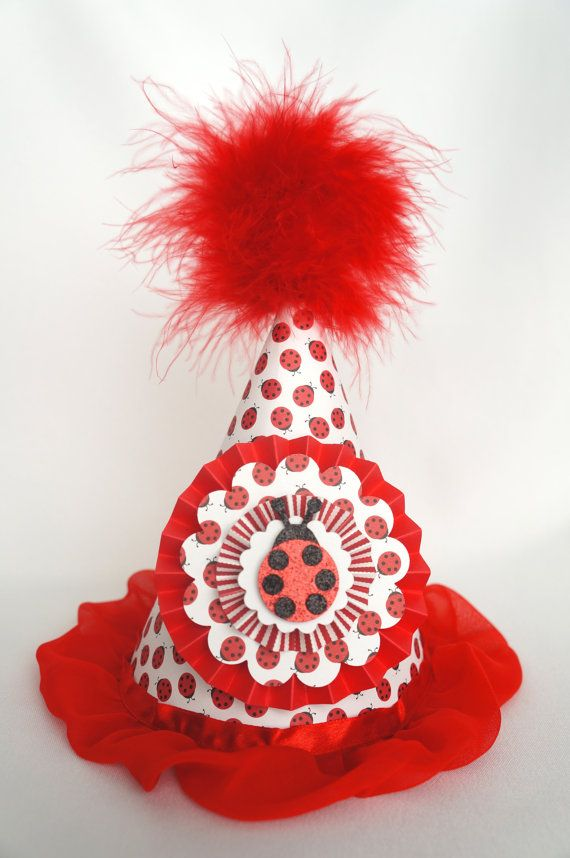 Ladybug Party Hat Bug By LibbysPaperPartyHats On Etsy 1500