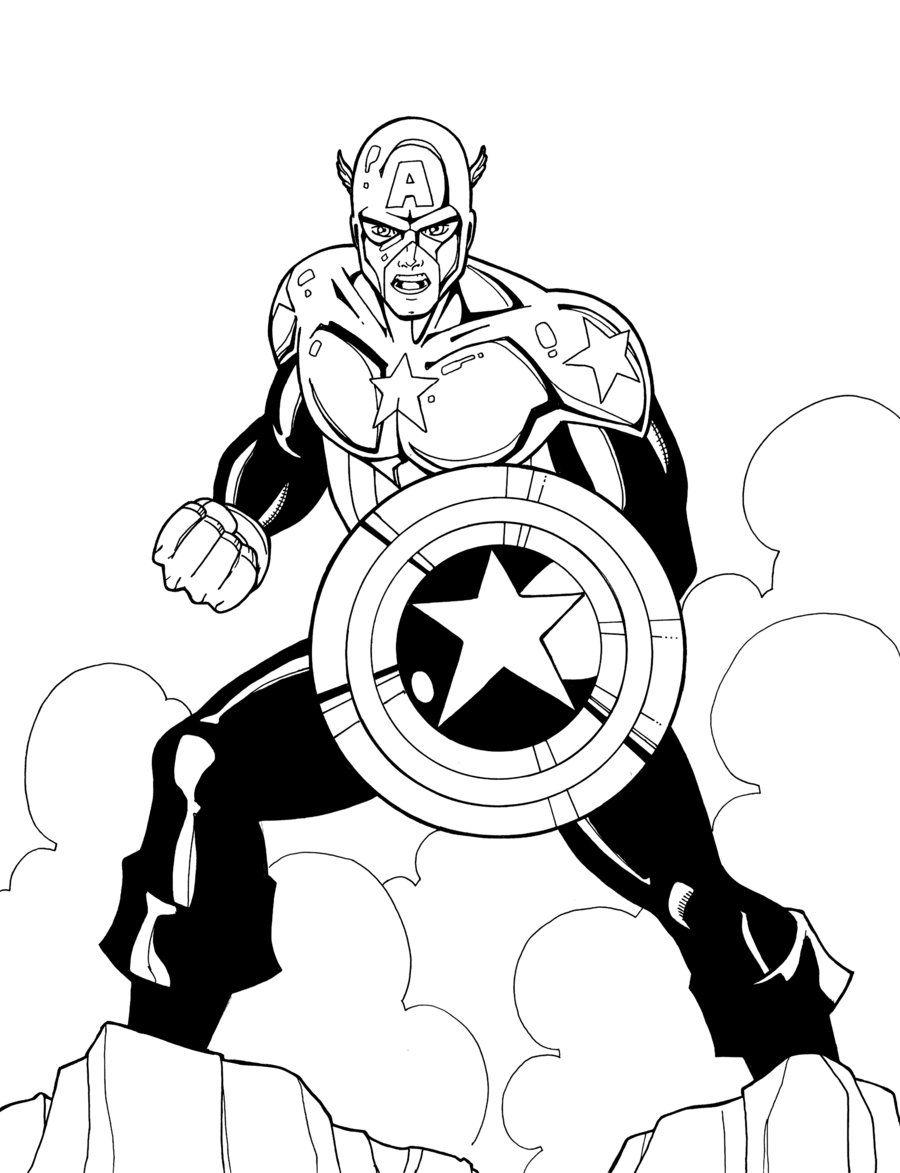 Captain America by JamieFayX on DeviantArt | LineArt: Capt America ...