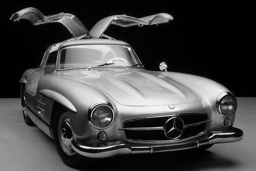 Mercedes Benz 300SL Gullwing metal sign
