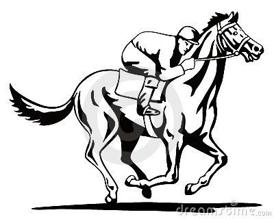 Thoroughbred Race Horse Template